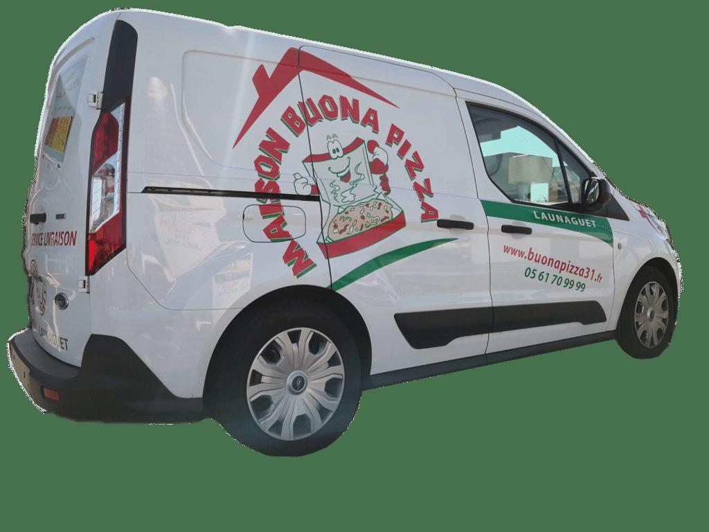 livraison de pizza a launaguet